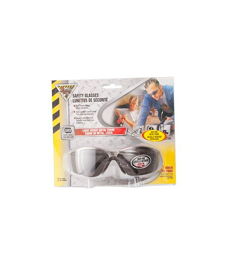 Wire Smoked Safety Glasses