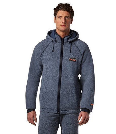 Men's Full Zip Jacket With Velcro Detachable Hood