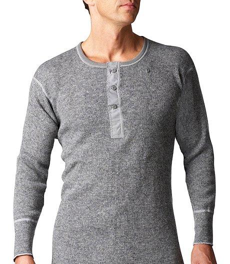 794bdd10 Stanfields Men's Long Sleeve Heavy Wool 3 Button Placket ...