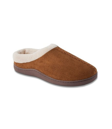 a0b02046b2b WindRiver Men s Faux Suede Terry Lined Mule Slippers ...