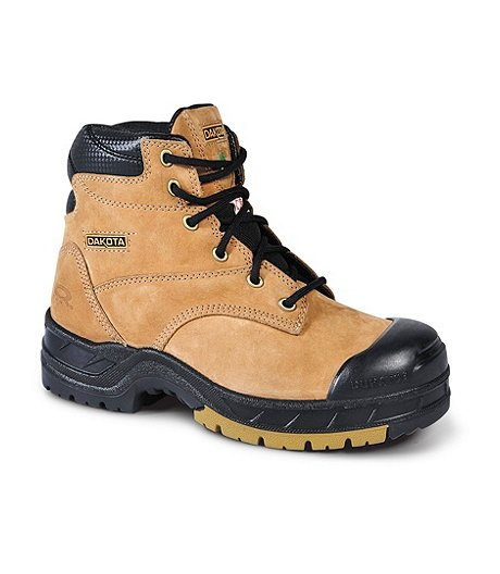 "Women's 6"" Quad Basic Steel Toe Composite Plate Work Boots"