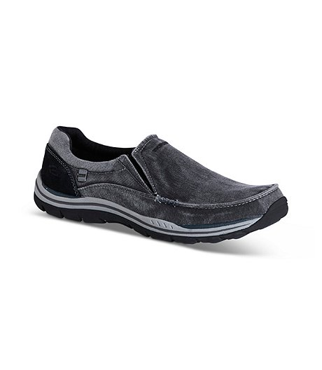 Men's Expected Avillo Relaxed Fit Slip-On Shoes - Black