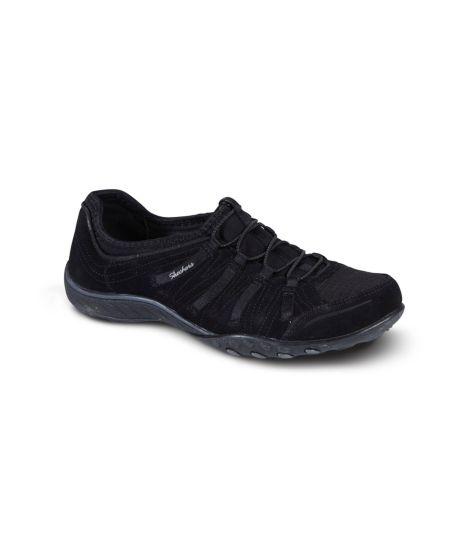 Chaussures à élastique Skechers noires Sportives femme