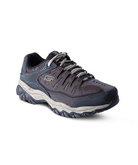 Skechers Men's After Burn Lace-Up Sneakers - Wide