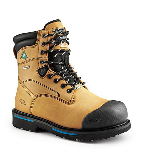 03202e6b24b Men's 8'' Cobra Waterproof Steel Toe Steel Plate Work Boots