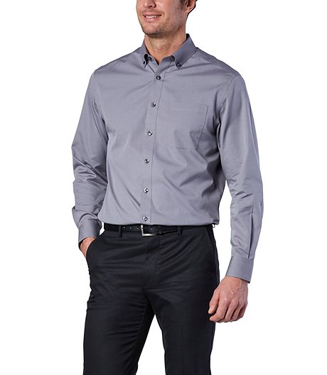 b6a7fcab Denver Hayes Men's Never Iron Dress Shirt- Classic Fit