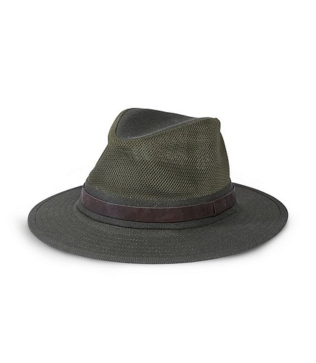 Mid Brim Hat, Mesh Crown