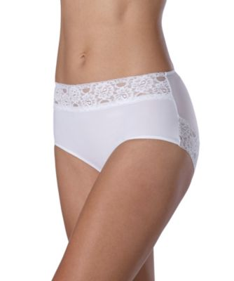 Women's Secret Microfibre Modern Brief White Medium