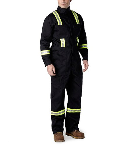 74828930a1fa Dakota Men s Flame Resistant 9oz Twill Contractor Coverall With Reflective  Tape