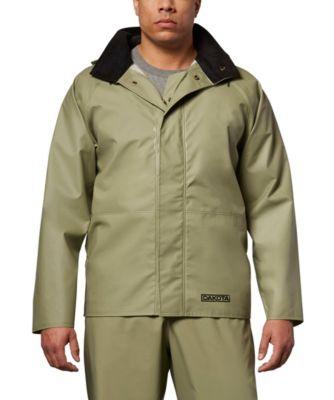 Men's Dakota PVC Hooded Rain Jacket Light Green 2 Extra Large / Regular