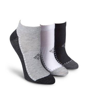 Women's Columbia Women's 3-Pack Explorer Contrast Foot Low Cut Sock White 6-10