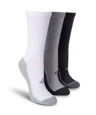 Women's Columbia Women's 3-Pack Explorer Contrast Foot Crew Sock Pink 6-10