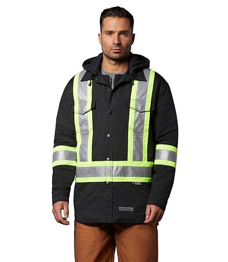Men's Class 1 Hi Vis Hooded Quilted Jac Shirt