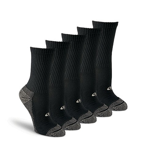 Women's Knockdown 4+1 Bonus Pack Sport Crew Socks