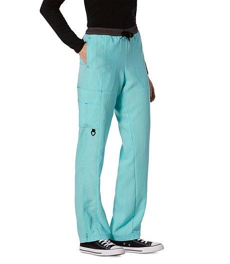 9c2ad10786e HEALTH PRO Women's Straight Leg Cargo Scrub Pants