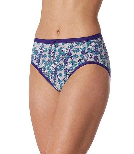 a41f98042c52 Denver Hayes Women's 2-Pack Cotton Stretch Hi-Cut Panties