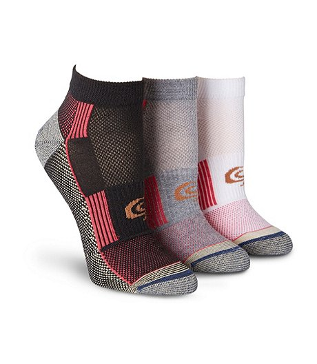 Women's 3-Pack Flat Knit Extreme Athletic Low Cut Socks