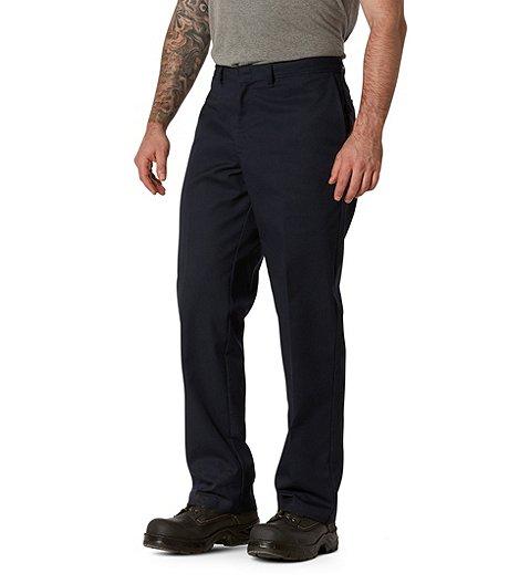 De Sergé Plat En Et Travail Pantalon Hommes Pour Devant Extensible qUSpVMz