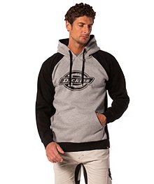 6d19bf5a6b9a Dickies Men s Two Tone Hooded Logo Pullover ...