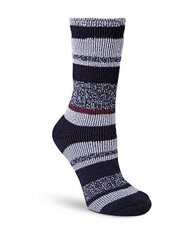 T-Max Heat Women's Striped Crew Socks