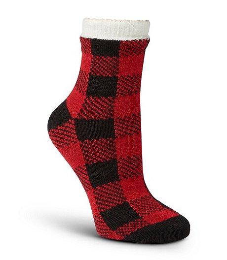 Heritage Buffalo Plaid Double Knit Socks Marks