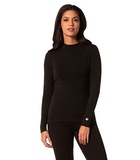 Women's Modal Stretch Mock Neck Thermal Top