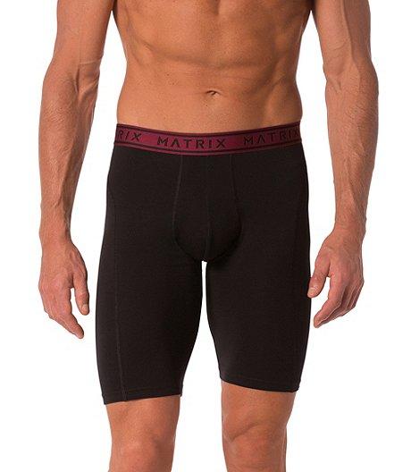 03f6314c1d7 Matrix Men s 2-Pack Cotton Stretch Long Boxer Briefs