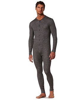 WindRiver Men's All-in-One 2-Layer Merino Wool Combination Underwear