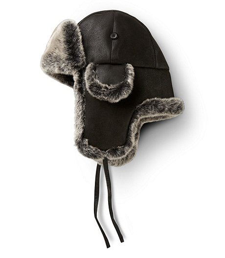 WindRiver Faux Leather Aviator Hat af7bda32a