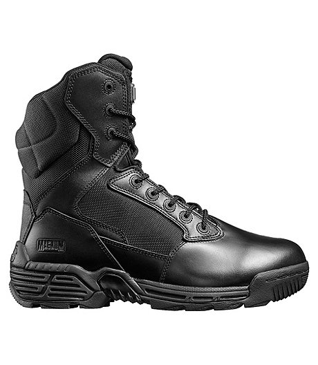 "Men's Magunum ""Stealth Force 8.0"" Composite Toe Composite Plate Side Zip Uniform Boots- ONLINE ONLY"