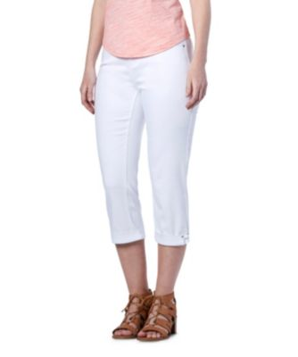 Women's Denver Hayes CURVE-TECH Supersoft Hanna High-Rise Jewel Capris White 14
