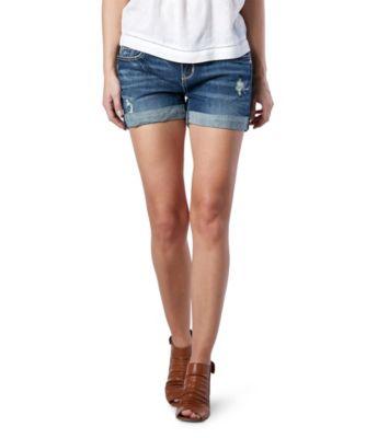 Women's DH3 Mia Mid-Rise Boyfriend Shorts Medium Indigo 2