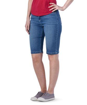 Women's Denver Hayes Hanna High-Rise Supersoft CURVE-TECH City Shorts Dark Indigo 16