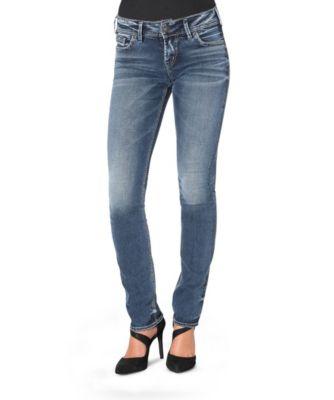 Women's Silver® Jeans Co. Elyse Straight Leg Jeans Dark Indigo 32