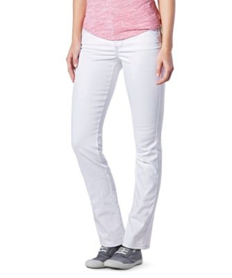 Women's Denver Hayes Mia Mid-Rise CURVE-TECH Buttlifter Straight Leg Jeans White 4 / 32