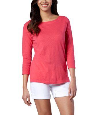 Women's Denver Hayes 3/4 Sleeve Boatneck T-Shirt Indigo Small