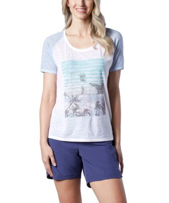 Women's Ripzone Burnout Graphic Tee White 2 Extra Large
