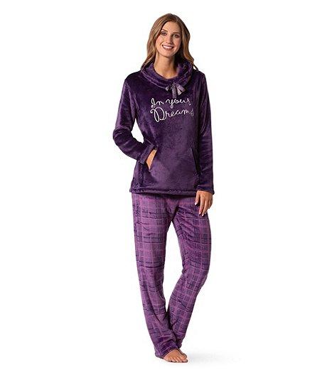 4189beb231630 Denver Hayes Women s 2-Piece Plush Pajama Set - Purple