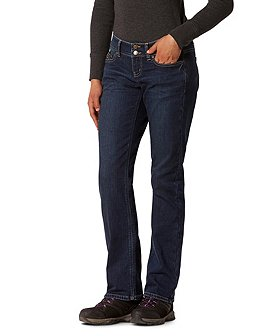 WindRiver Women's T-MAX Heat Lined Curvy Straight Jeans