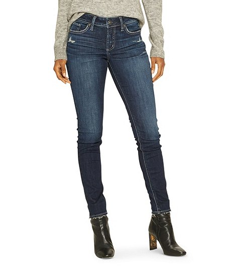 27ac71df282 Silver® Jeans Co. Women's Elyse Skinny Mid Rise Jeans