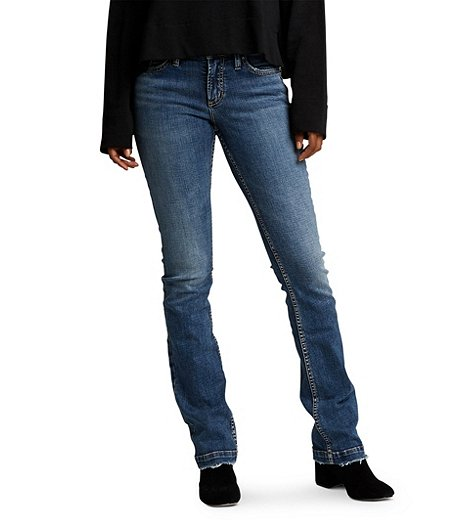 621c031b911 Silver® Jeans Co. Women's Elyse Slim Boot Mid Rise Jeans