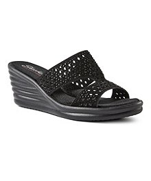 3f5e695ff Skechers Women s Rumblers Wave - Ibiza Summer Wedge Sandals ...