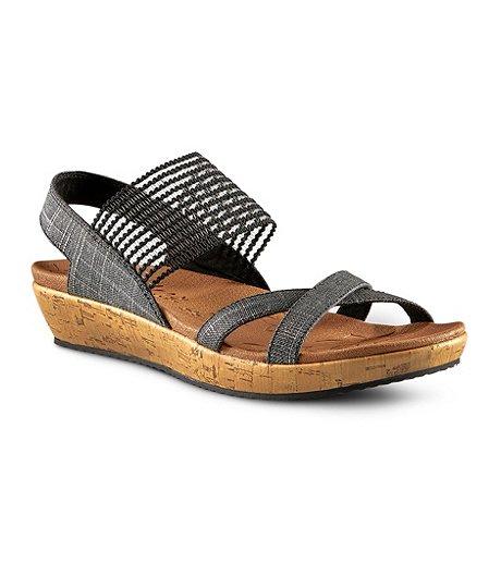 e515756e Skechers Women's Brie Stretch Sling Back Sandals