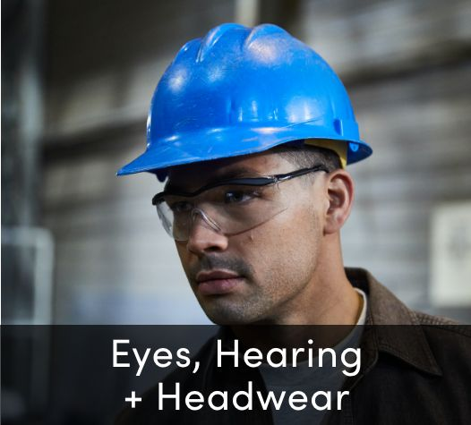 Eye and hearing protection and headwear