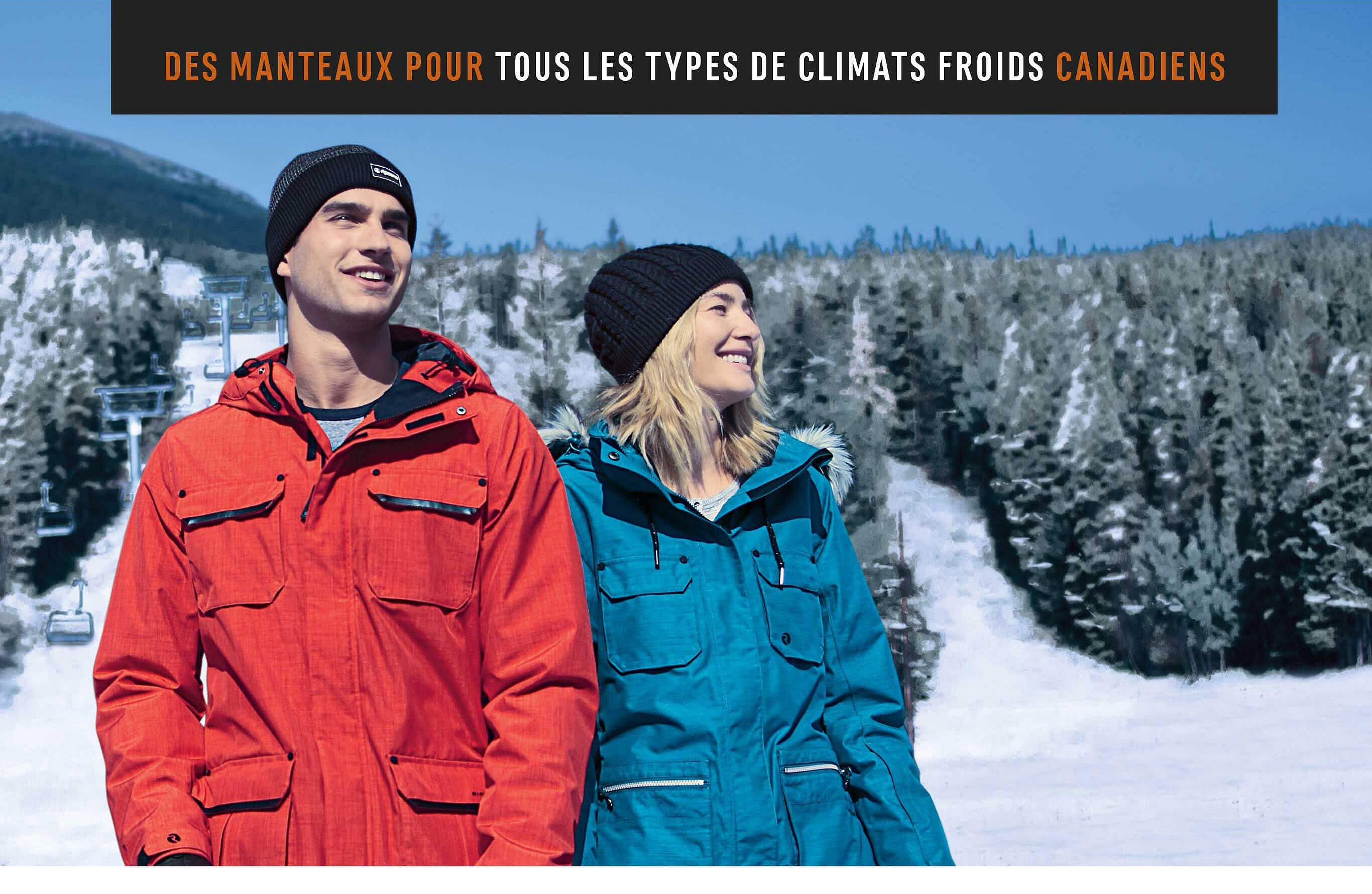 Des Manteaux pour tout les Types de Climats Froids Canadiens