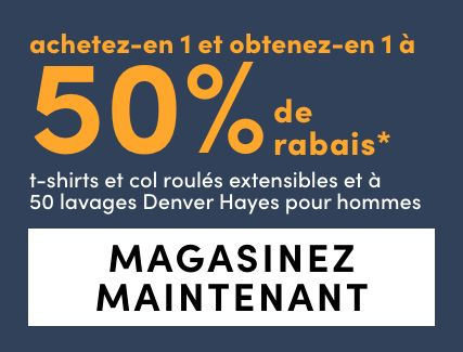 Denver Hayes Stretch and 50 Wash T-Shirts and Turtlenecks - Bogo 50%