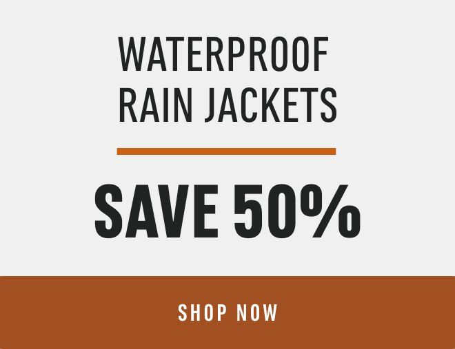 Waterproof Rain Jackets: Save 50%