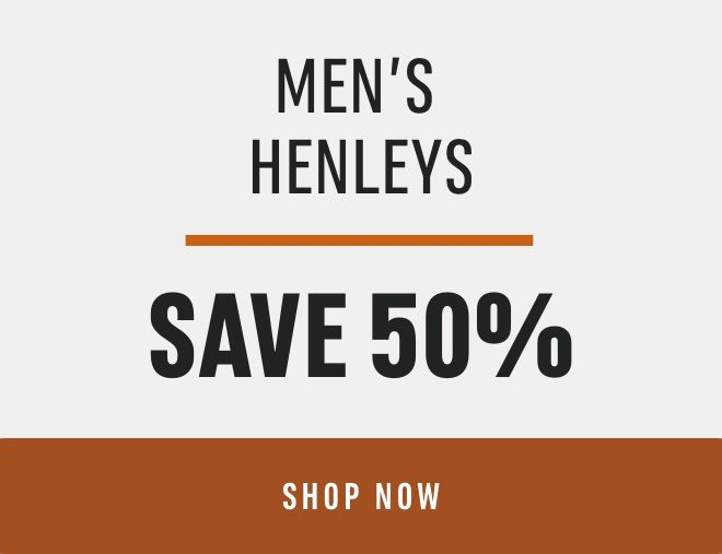 Men's Henleys: Save 50%