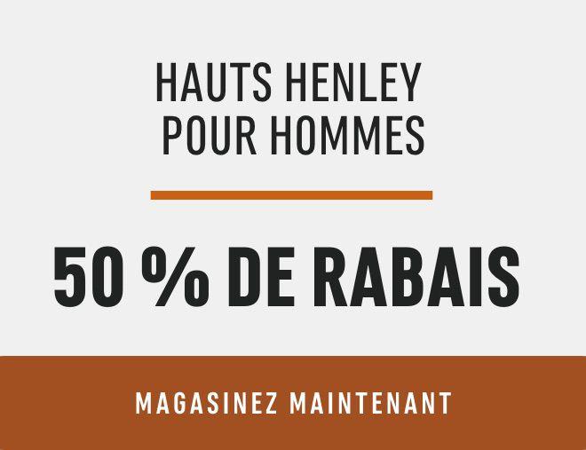 Men's Henleys: Save 50%