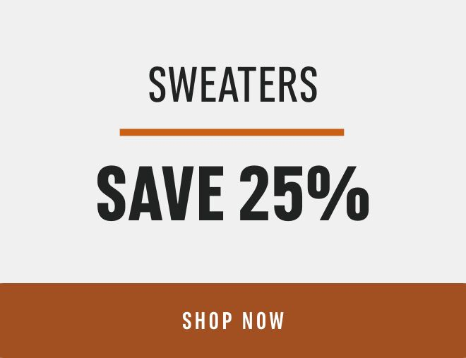 Sweaters Save 25%